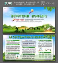 创意环保节能环保展板