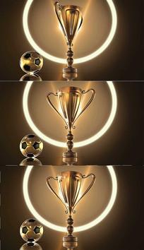 4K足球奖杯背景视频