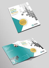 大气简洁企业科技画册封面设计