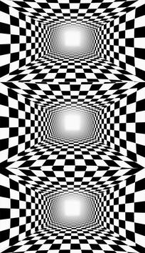 黑白棋盘格隧道背景视频素材