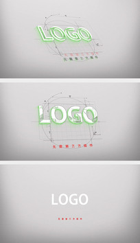 绘图LOGO片头AE模板