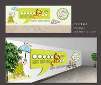 可爱校园文化墙设计
