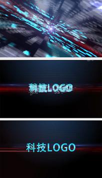 科技LOGO片头AE模板