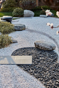 枯山水景观小庭院 JPG
