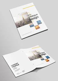 通用简洁大气企业宣传画册封面