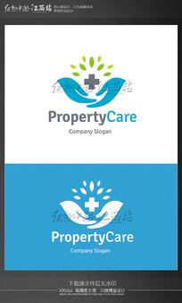 创意医疗公益logo EPS