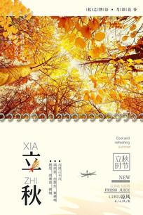 二十四节气立秋创意海报