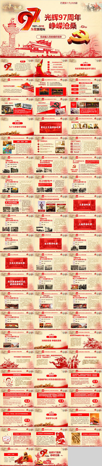 建党97周年光辉历程党史学习PPT