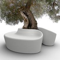 曲线树池座椅