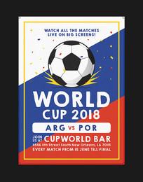 世界杯足球海报设计