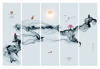 水墨抽象装饰画
