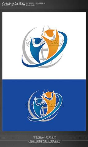 学校创意logo