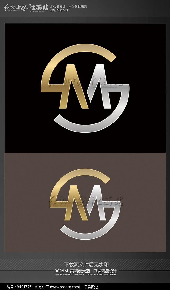 字母M创意logo图片