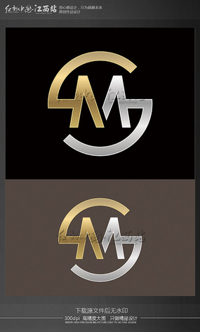 字母M创意logo