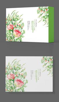 创意微商品牌绿色包装盒设计
