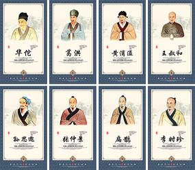传统中医人物宣传挂图