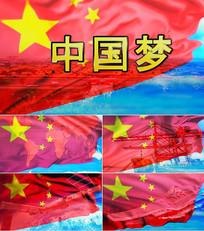 歌曲我们的中国梦舞台背景视频