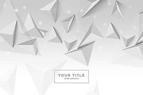灰色立体三角形背景图