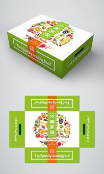 简约时尚通用水果礼盒包装