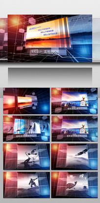 科技企业宣传图片展示AE模板
