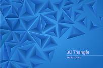 立体三角形背景素材