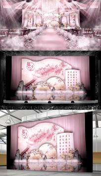 桃花粉红主题婚礼