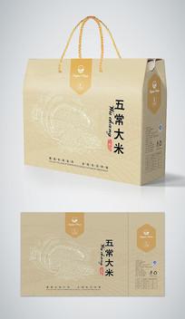 五常大米礼盒包装