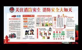 消防安全防火安全宣传展板