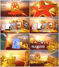 八一建军节中国军队图文ae模版