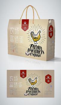 高端出口农场散养鸡蛋礼盒包装