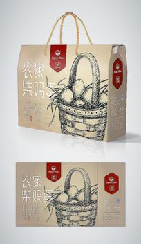 手绘高端农场散养鸡蛋礼盒包装