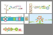 学校阅览室文化墙设计