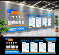 大气现代企业文化墙展板 CDR