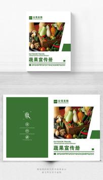 蔬果宣传手册封面设计