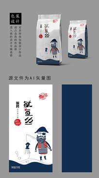 零食海鲜鱿鱼卡通包装袋桶装