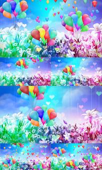 气球花海LED背景视频
