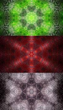 4K三色花纹背景视频素材