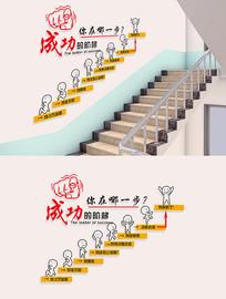 成功的阶梯企业励志文化墙
