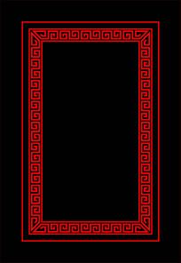 传统边框长方形