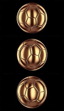 带通道金色足球背景视频素材 mov