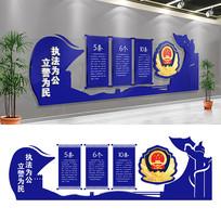公安警营文化长廊展厅文化墙