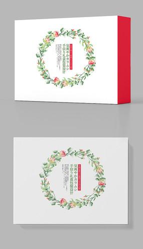 森系唯美小清新包装盒设计_红动网图片