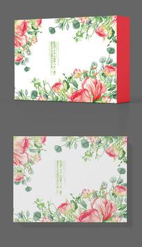 家纺床上用品花卉包装盒设计