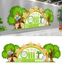 卡通幼儿园培训机构形象文化墙