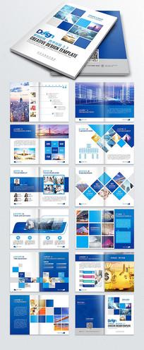 蓝色创意企业画册公司宣传册 AI