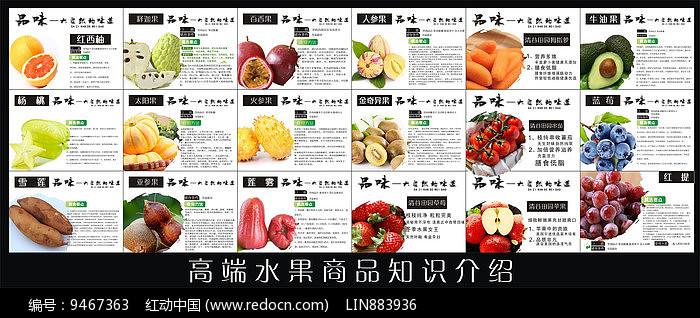 生鲜水果介绍展板图片