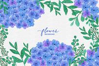 水彩花卉背景图 EPS