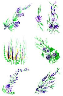 水彩碎花插图