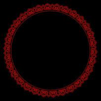 圆形边框花边
