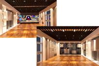 电暖炉展厅设计3D模型素材